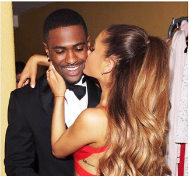 Ariana Grande and Big Sean Captured Kiss