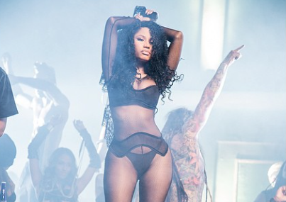 Nicki Minaj Gets Sexy On The Set Of Her 'Only' Video Shoot