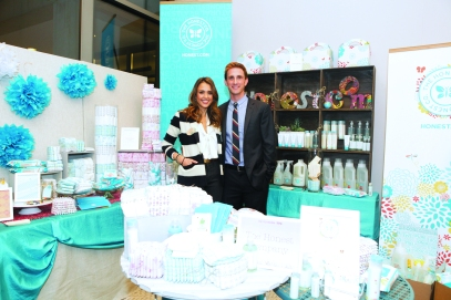 [Credit: The Honest Company Blog | Jessica Alba with Christopher Gavigan]