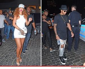 Image of Rihanna & Lewis Hamilton via TMZ