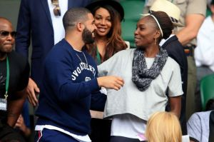 Image via Celebrity News Venus Williams greets Drake at Wimbledon