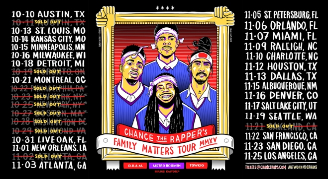 Family Matters Tour Dates via chanceraps.com