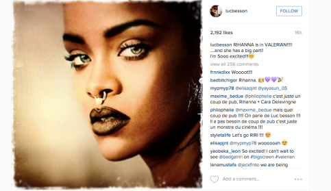 Image via Instagram (@lucbesson)